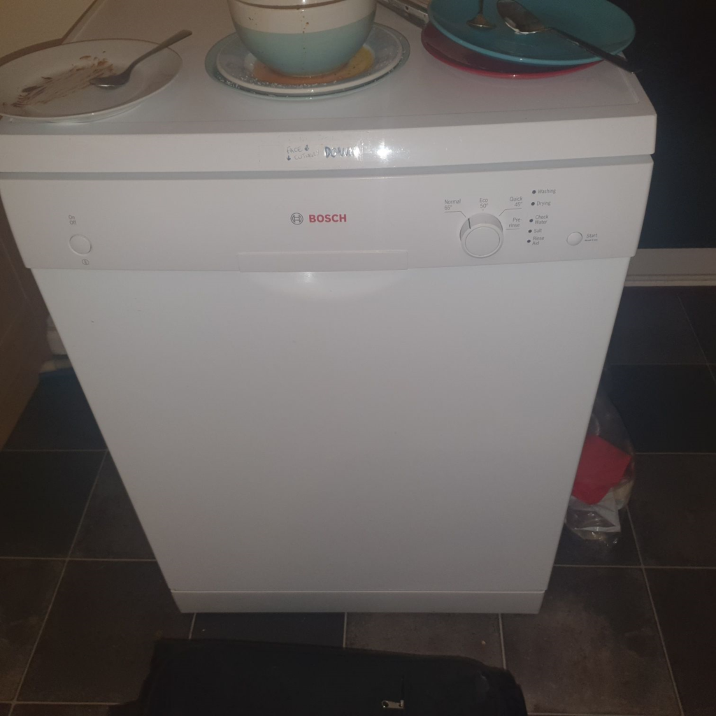 Professionally installed dishwasher by us.